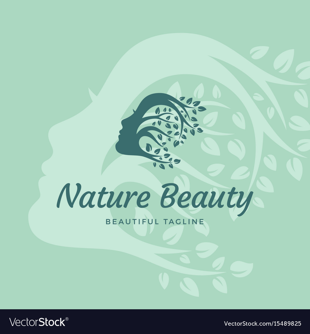 Nature beauty abstract sign emblem or logo