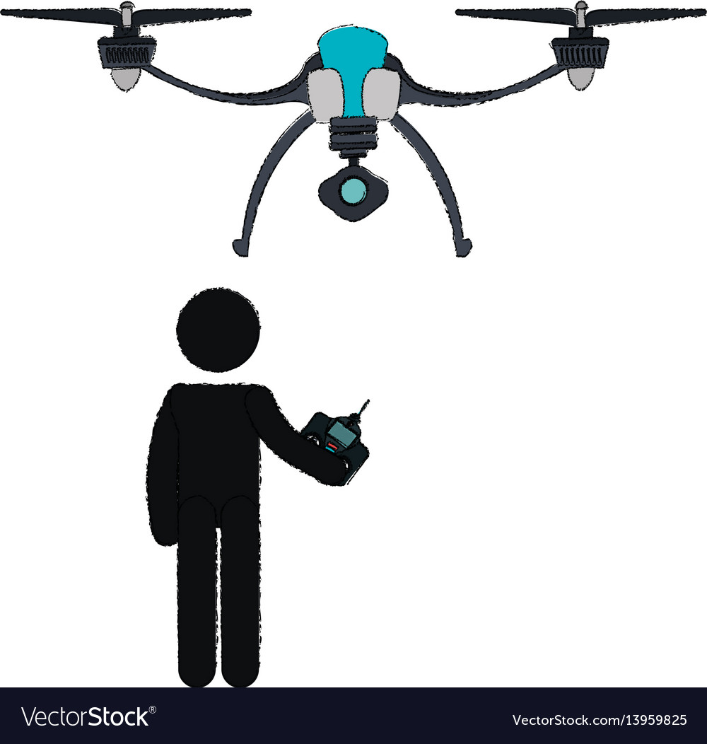 Stick Figure Clip Art Drone