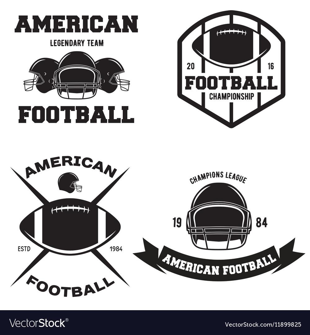 Retro Vintage American Football emblems set logos