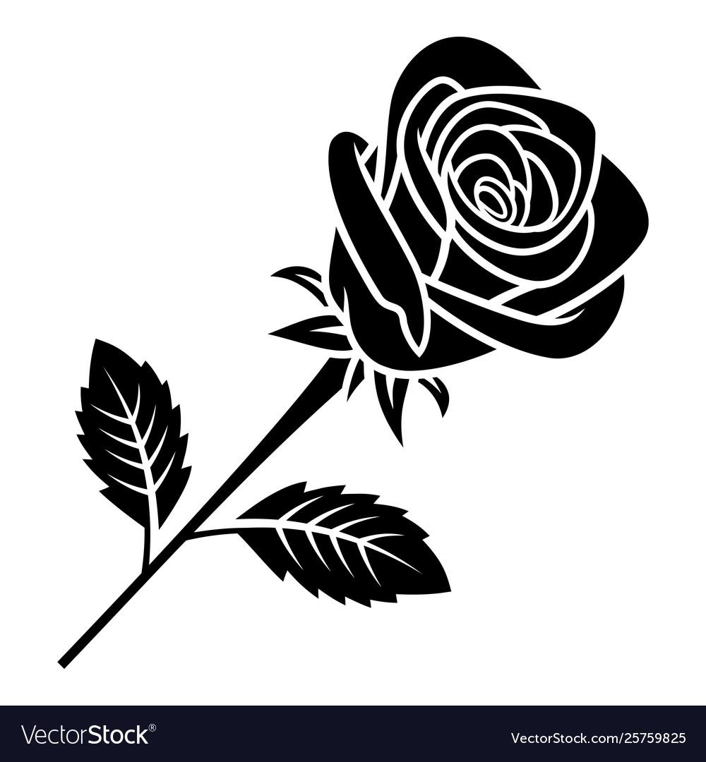 Rose silhouette 005