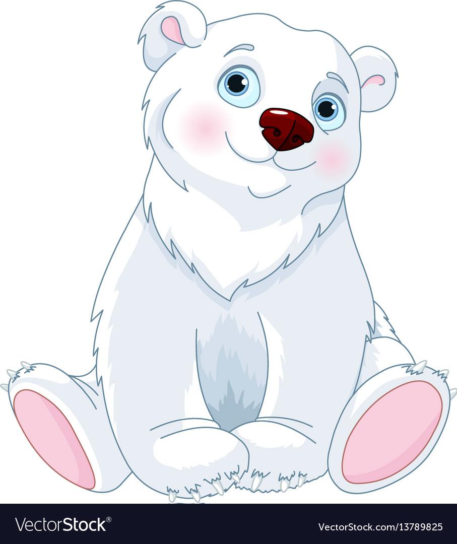 Sitting polar bear vector image