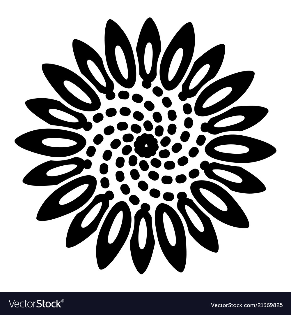 Tattoo flower icon simple style
