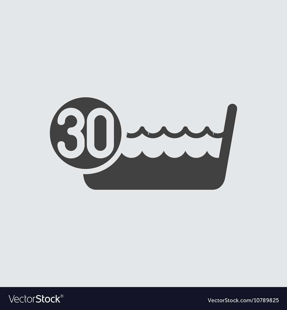 Wash below or at 30 degrees icon