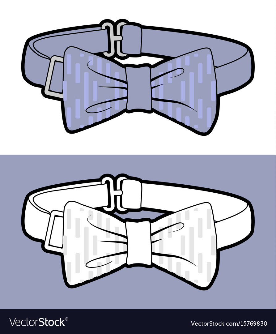 Blue Bow Tie Royalty Free Vector Image Vectorstock Diagram