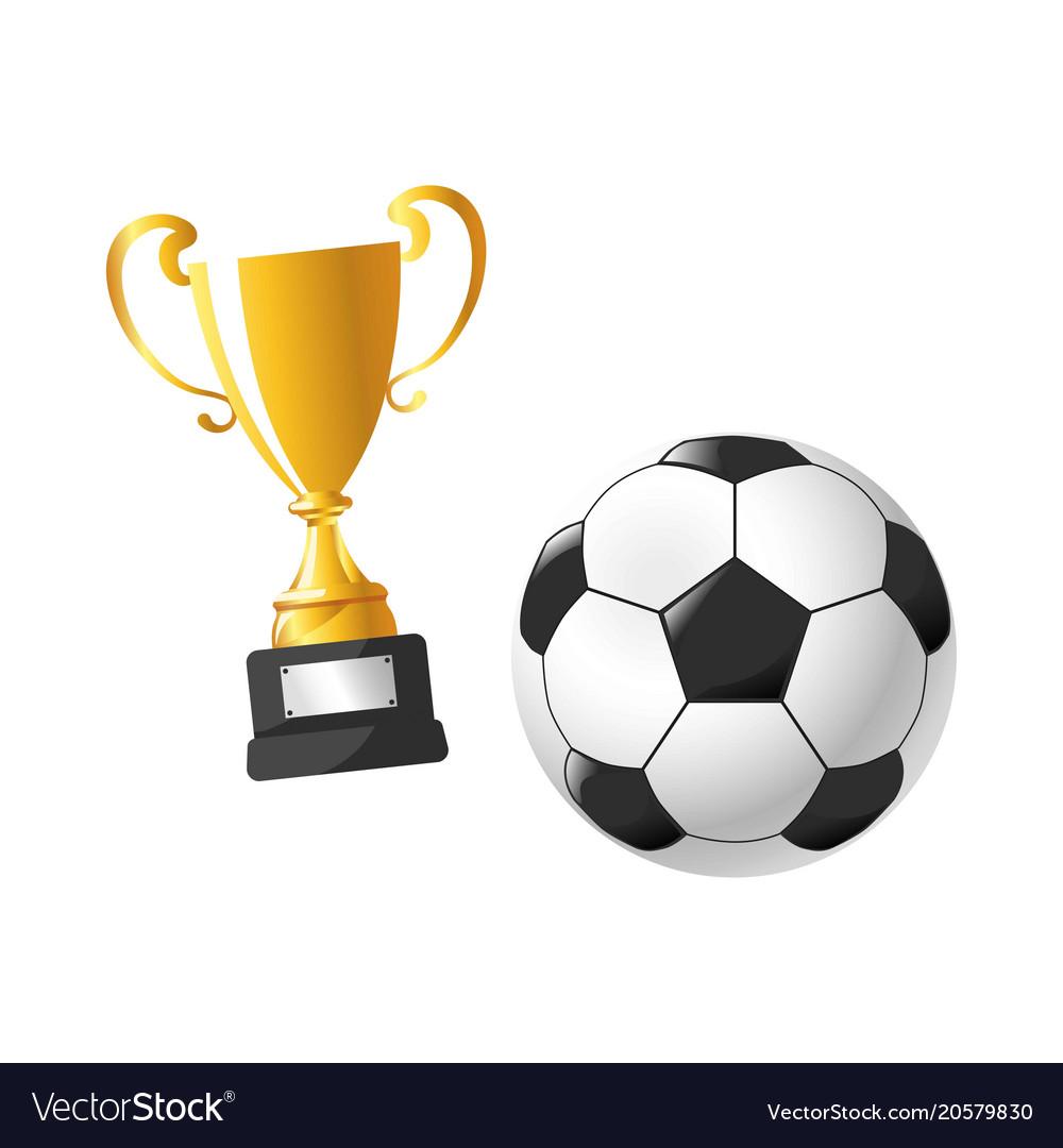Football cup award soccer sport flat icons