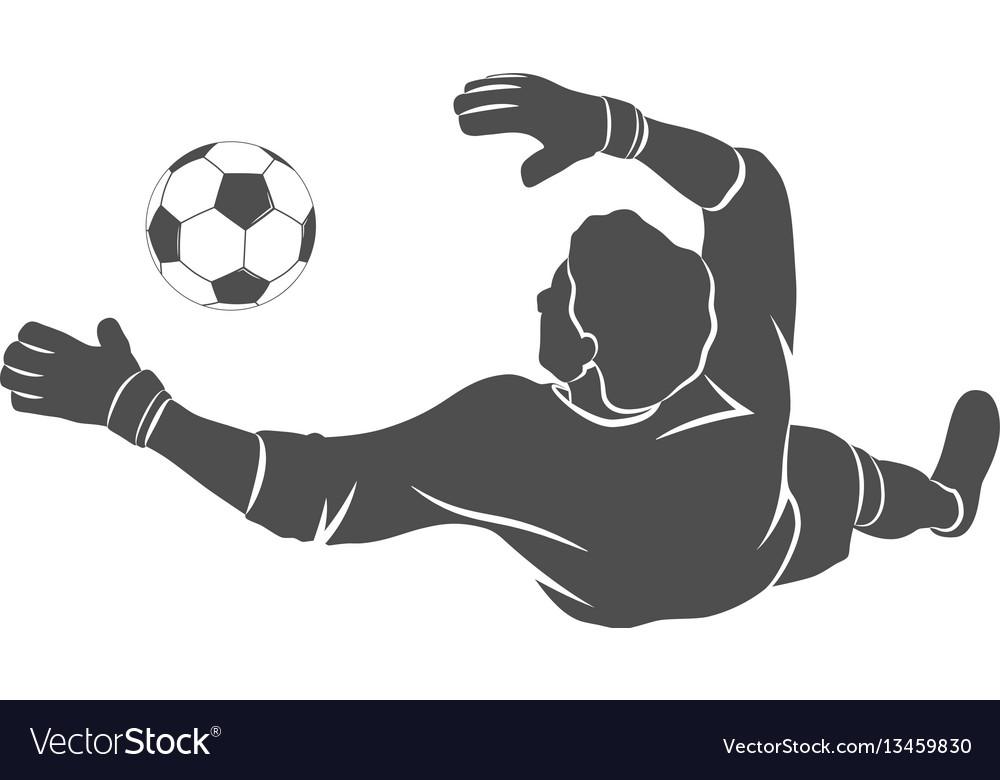 Goalkeeper ball icon
