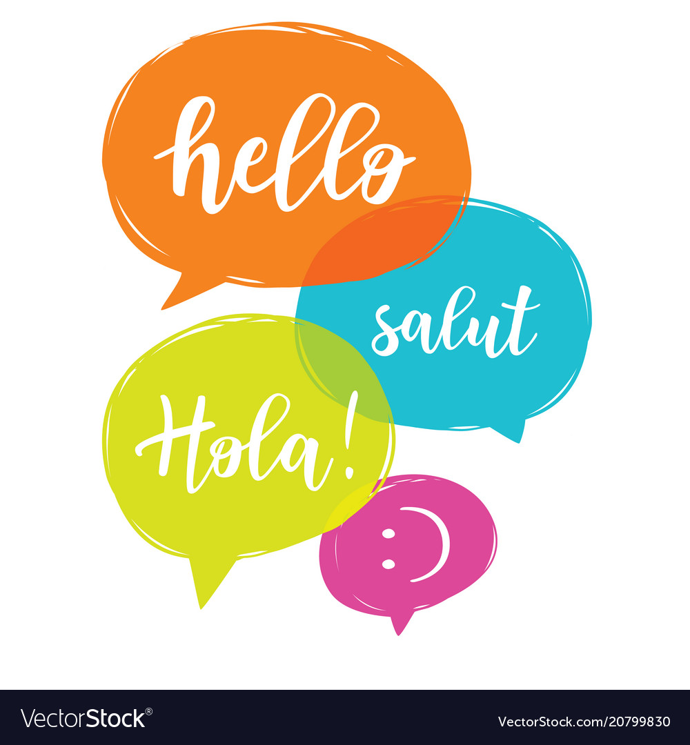 Hello In Different Languages Royalty Free Vector Image