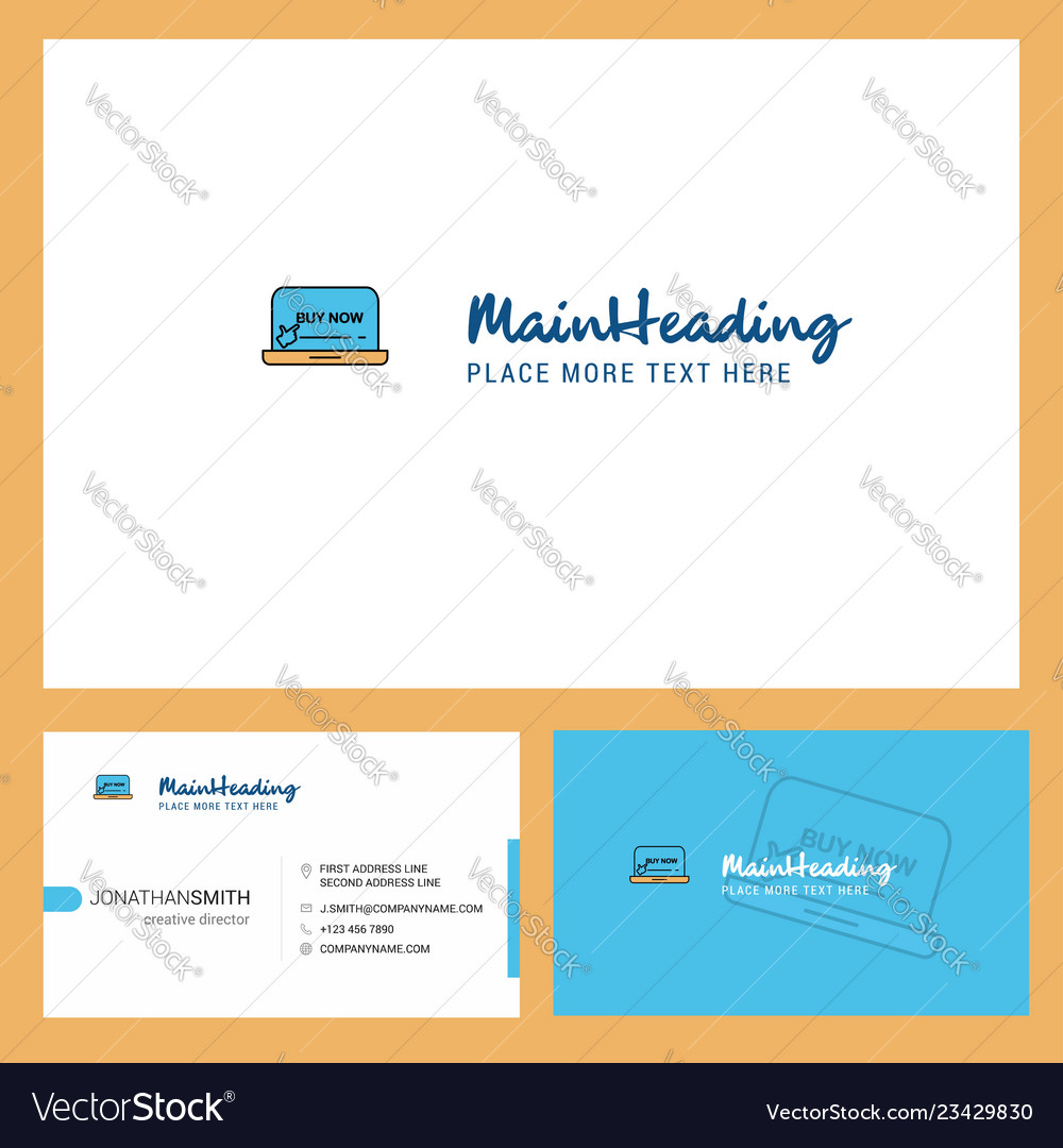 Online shopping logo design with tagline front