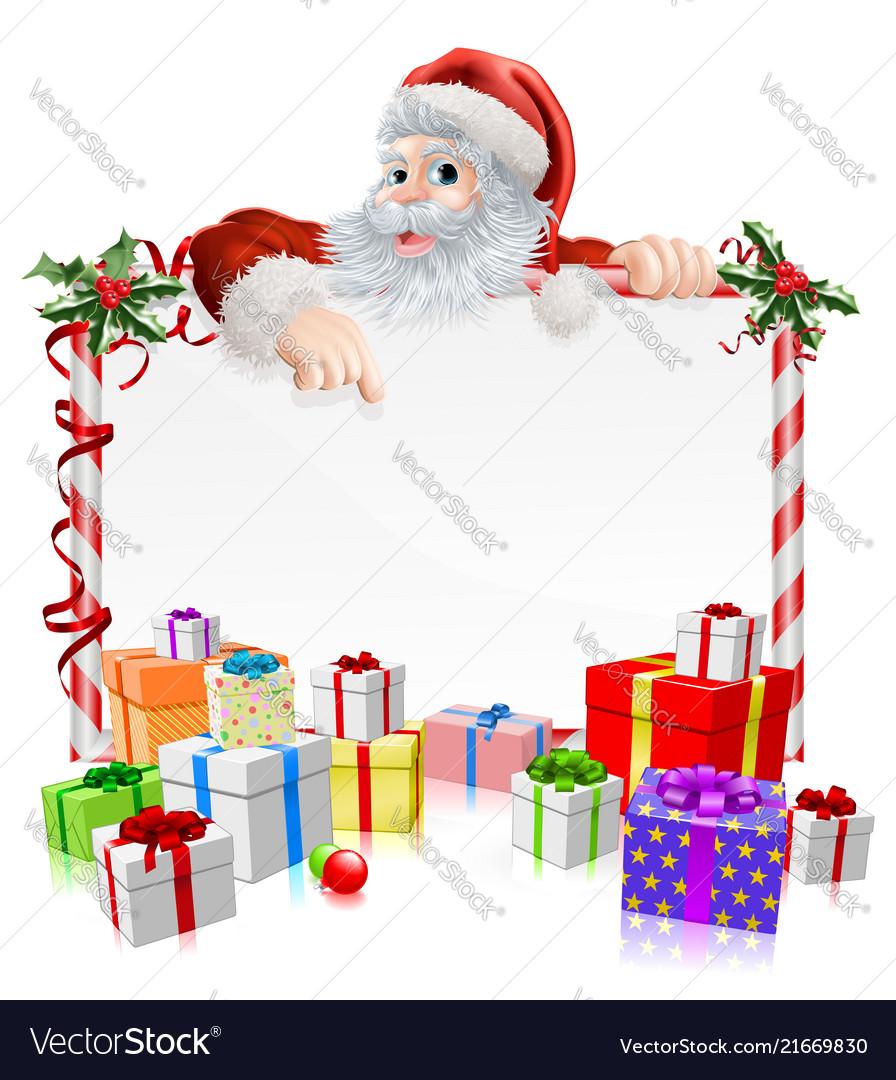 Santa christmas gifts sign Royalty Free Vector Image