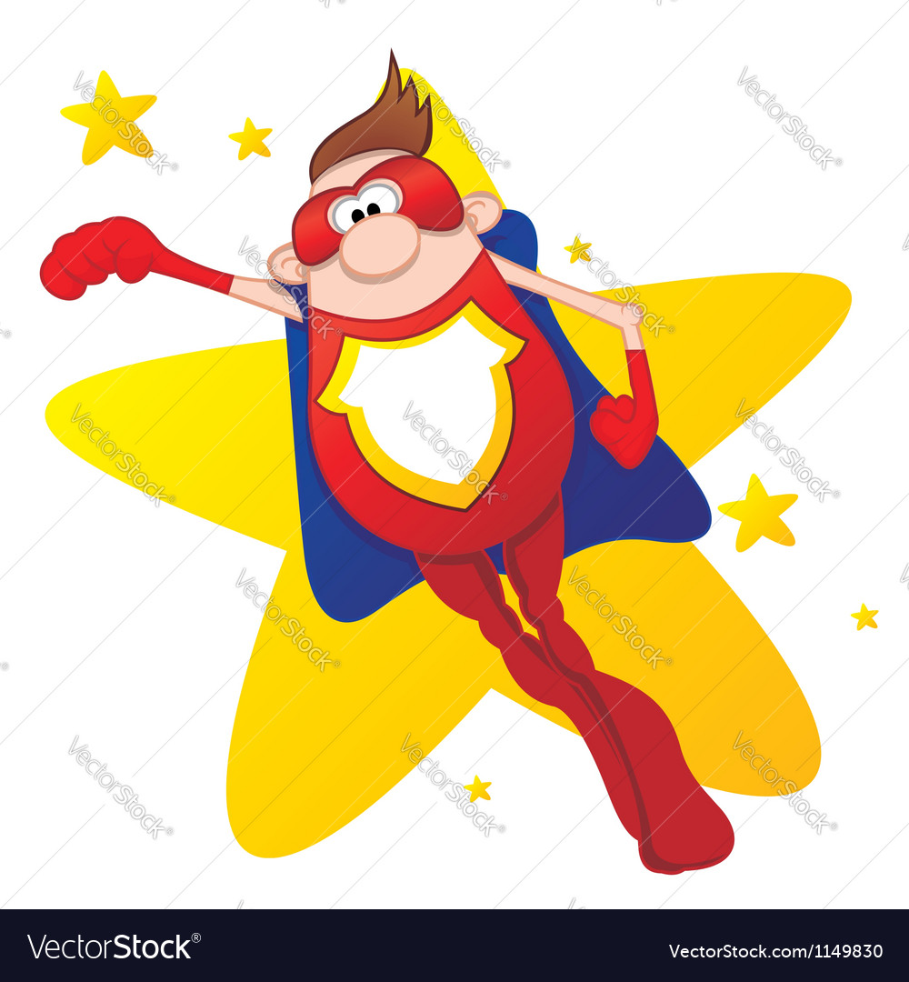 Super Hero vector image
