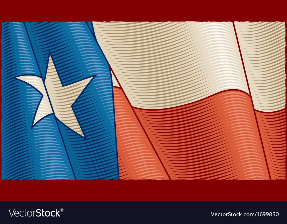 Vintage Texas flag background
