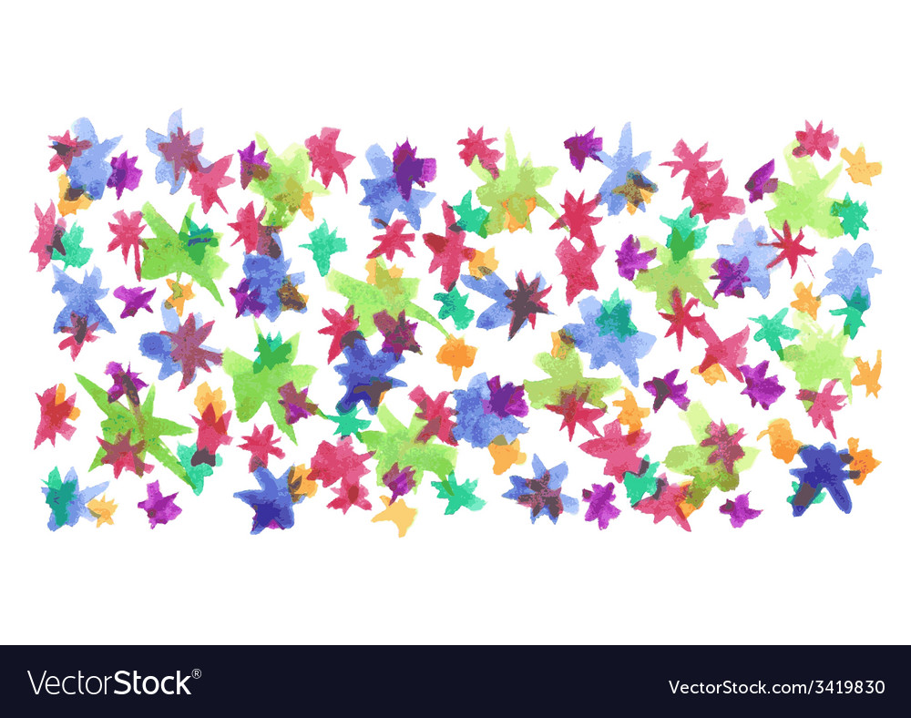 Watercolor background with firework sparks vector image