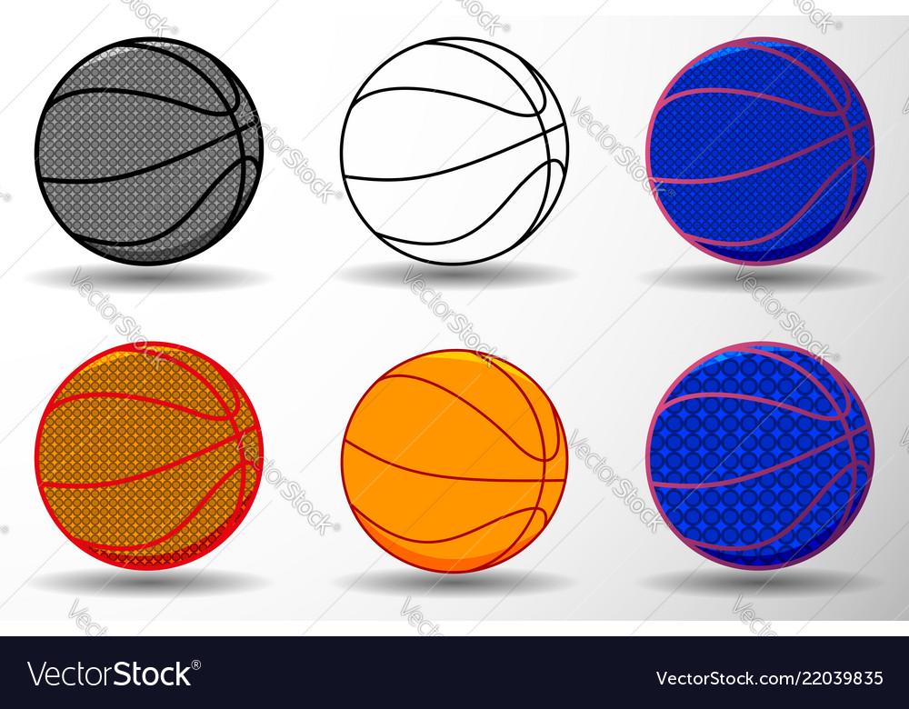 Basketball ball - set