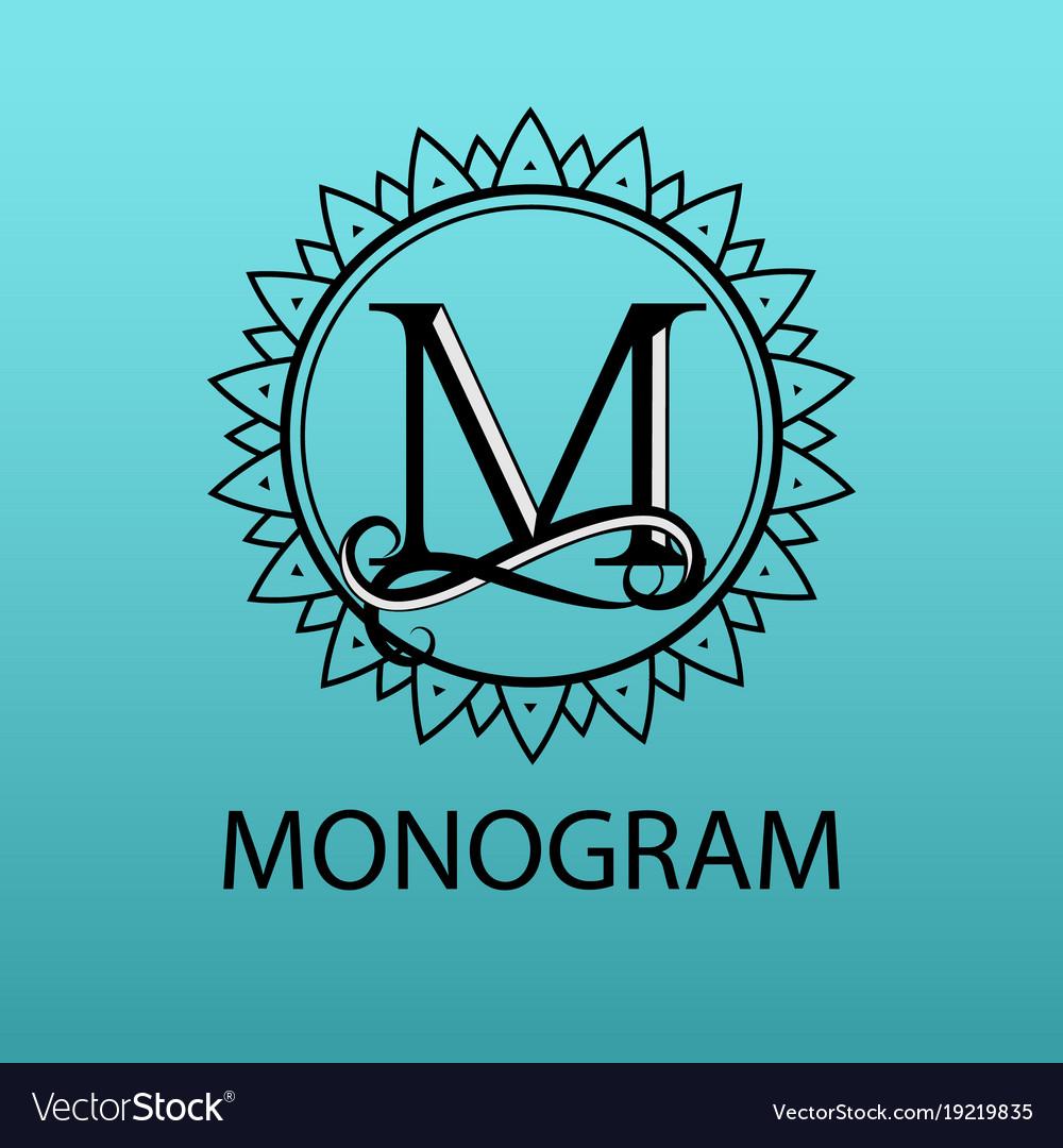 Design modern logo letter monogram for business