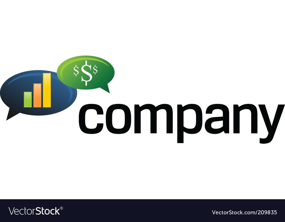 Financial speech bubble logo vector image