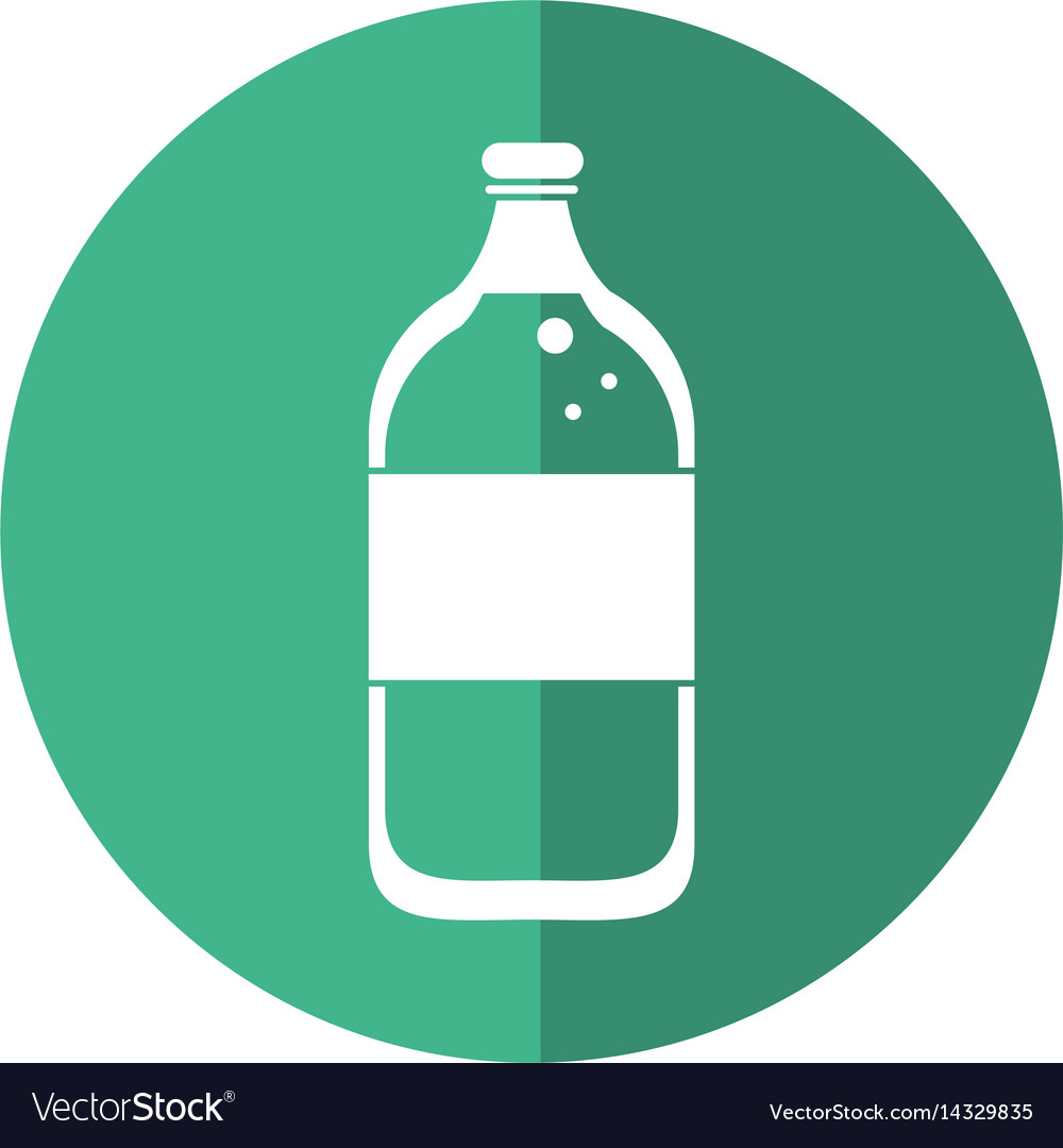 Mineral water bottle fresh shadow vector image