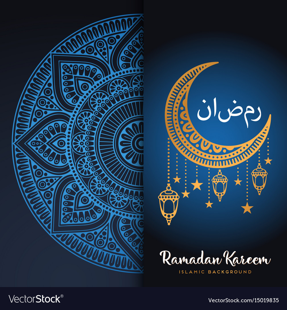 Month ramadan greeting card with arabic royalty free vector month ramadan greeting card with arabic vector image m4hsunfo