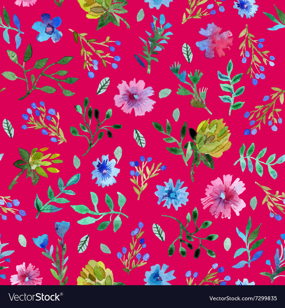 Seamless pattern with beautiful hand paint