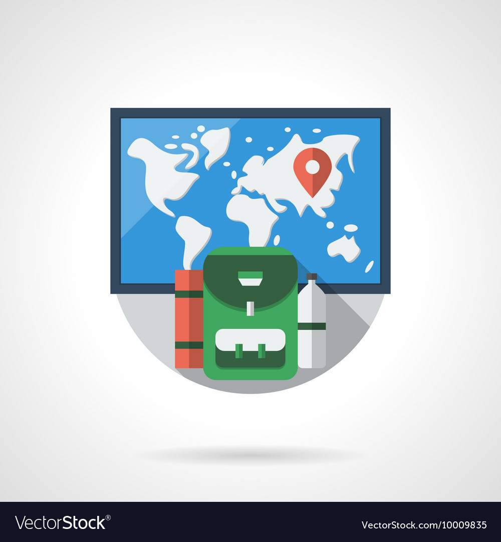 Travel destinations color detailed icon vector image