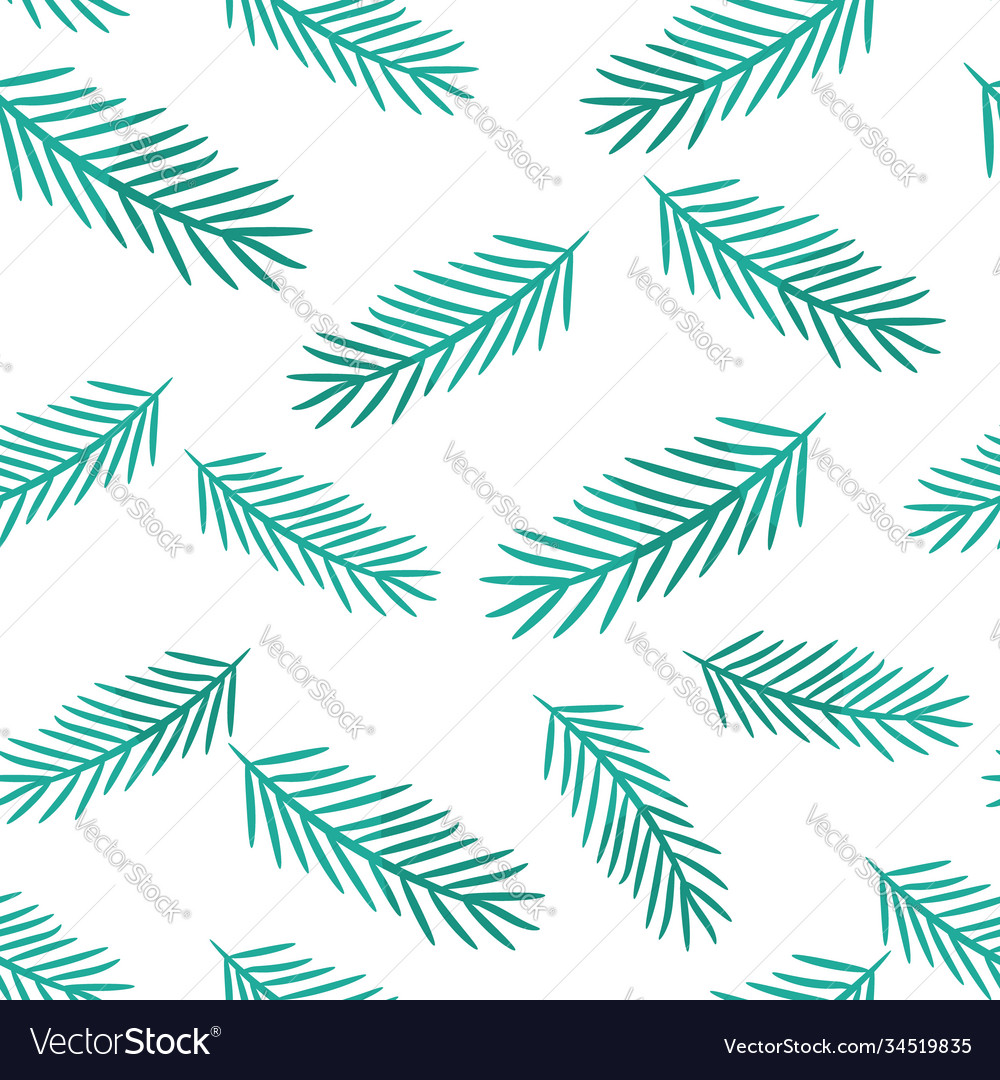 Winter seamless pattern with pine tree baranhes