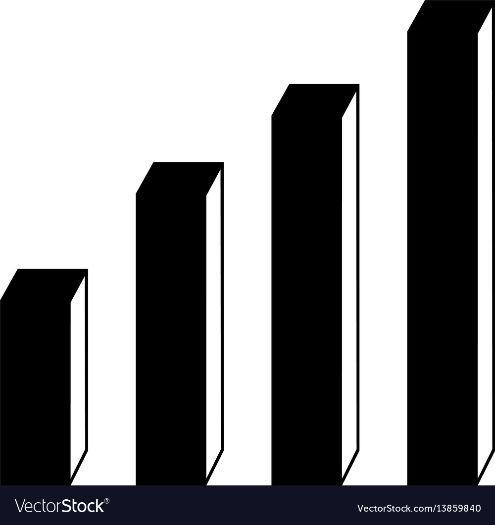 3d bar chart flat icon