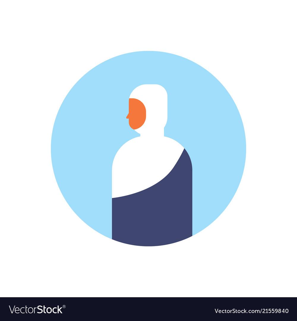Arabic woman profile avatar icon arab