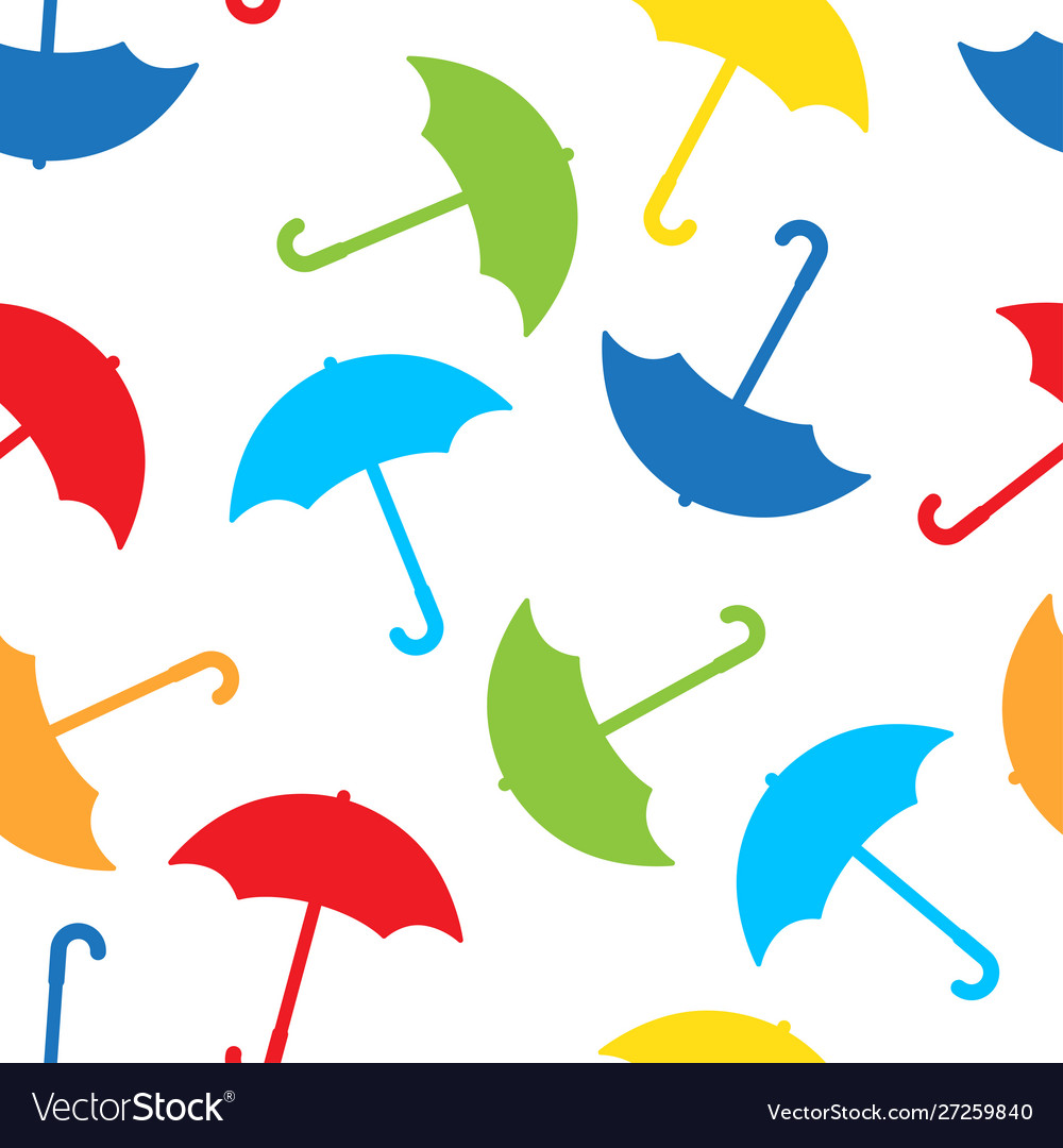 Autumn seamless pattern with umbrellas