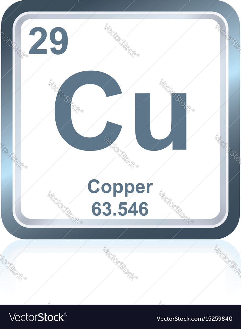 Chemical Element Copper From The Periodic Table Vector Image