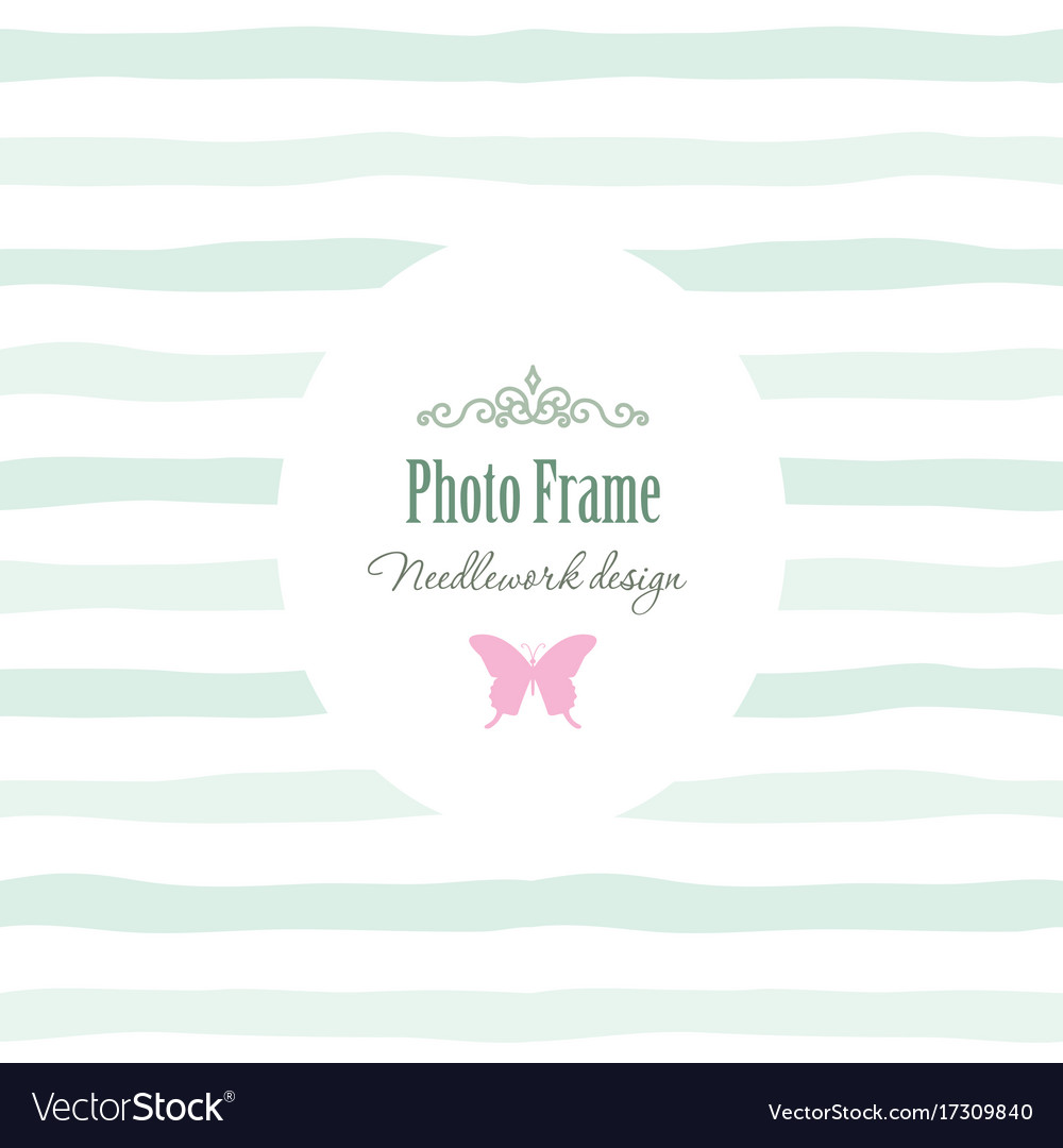 Elegant vintage template - oval frame with Vector Image