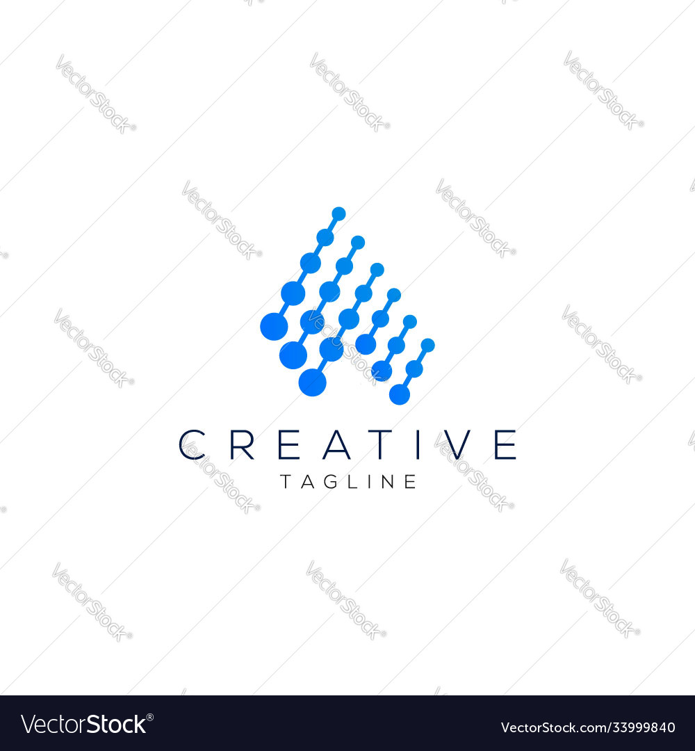 Letter a logo creative and modern minimalist logo