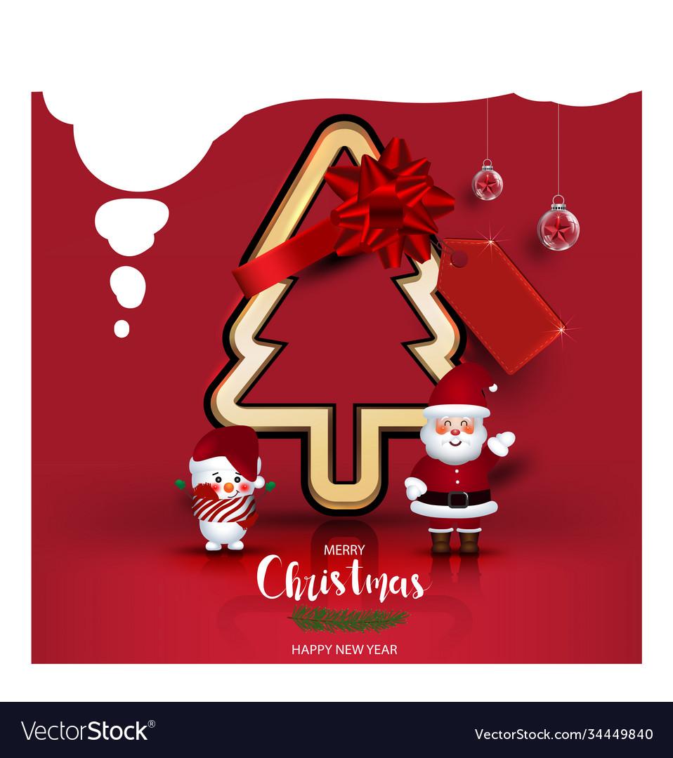 Modern holidays christmas cartoon santa claus