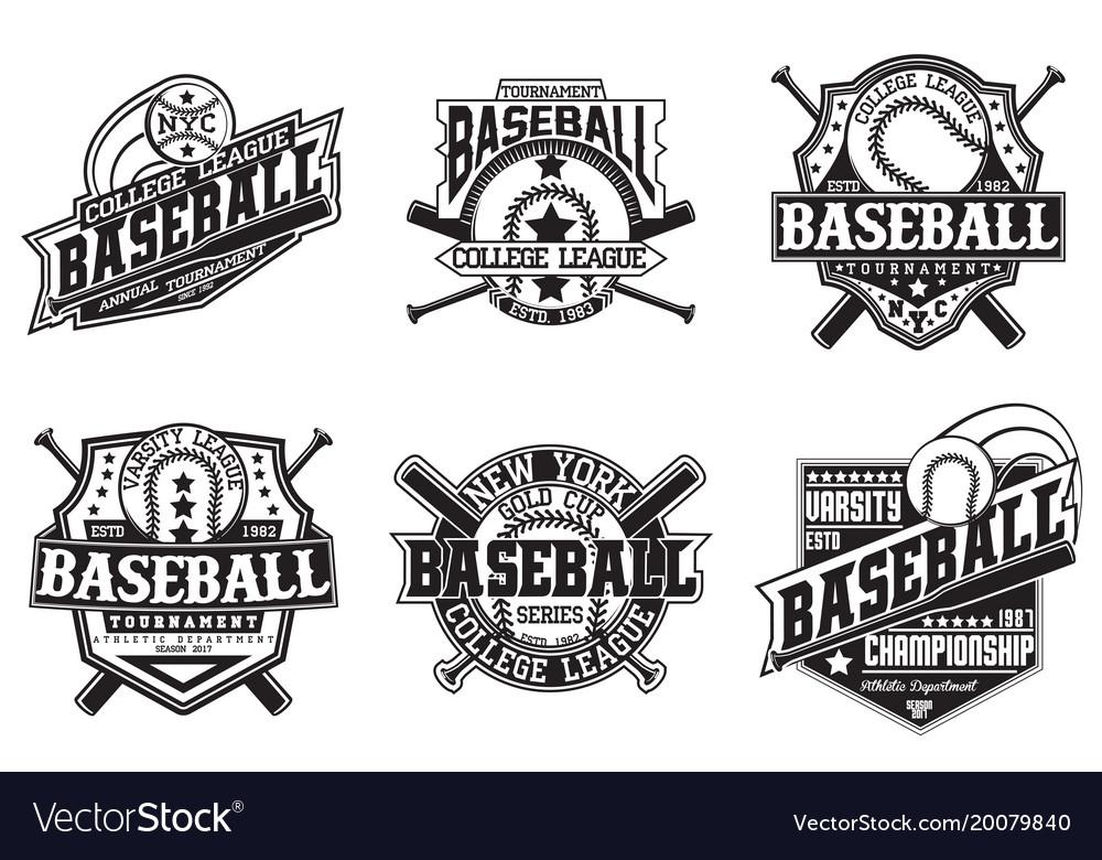 Set of vintage emblem design