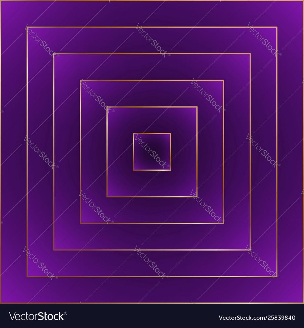 Violet fashion abstract background golden border