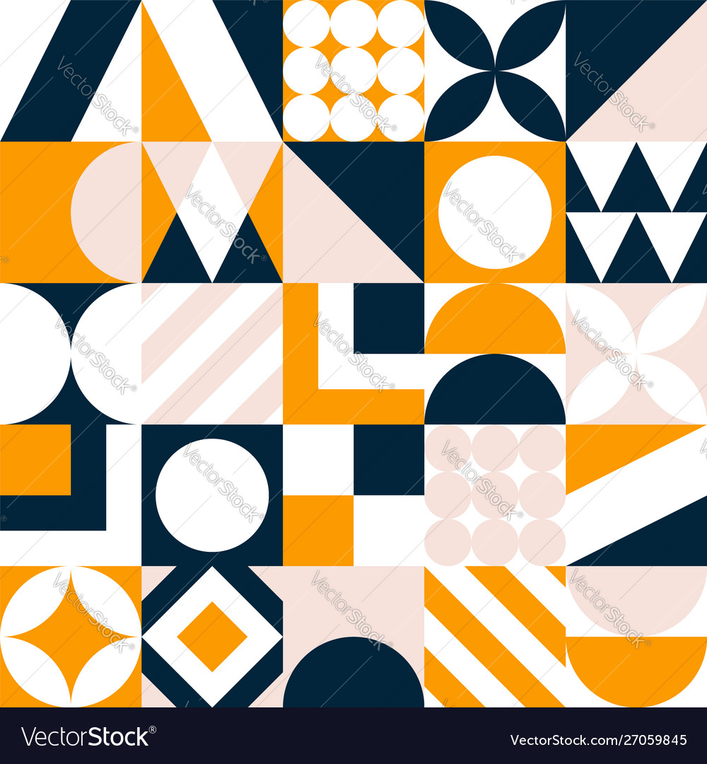 Abstract seamless pattern colorful geometric