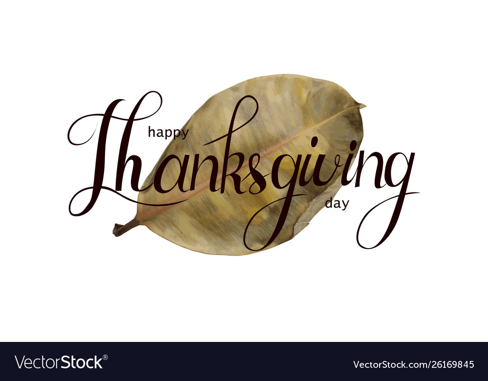 Happy thankgiving quote with holiday elements