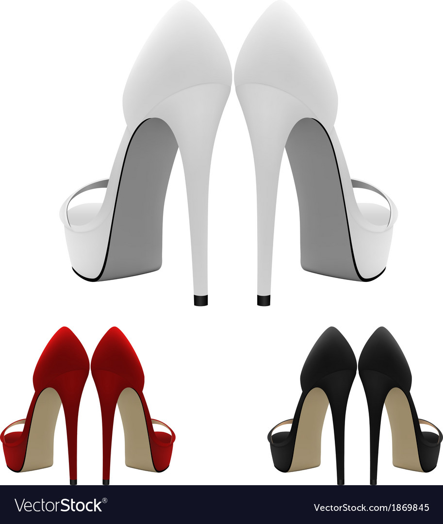 high heeled blank shoes template royalty free vector image
