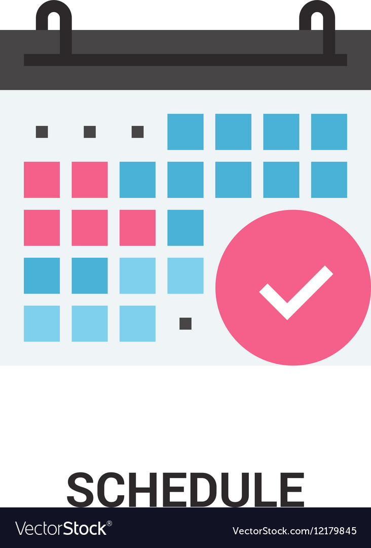 Schedule icon concept vector image