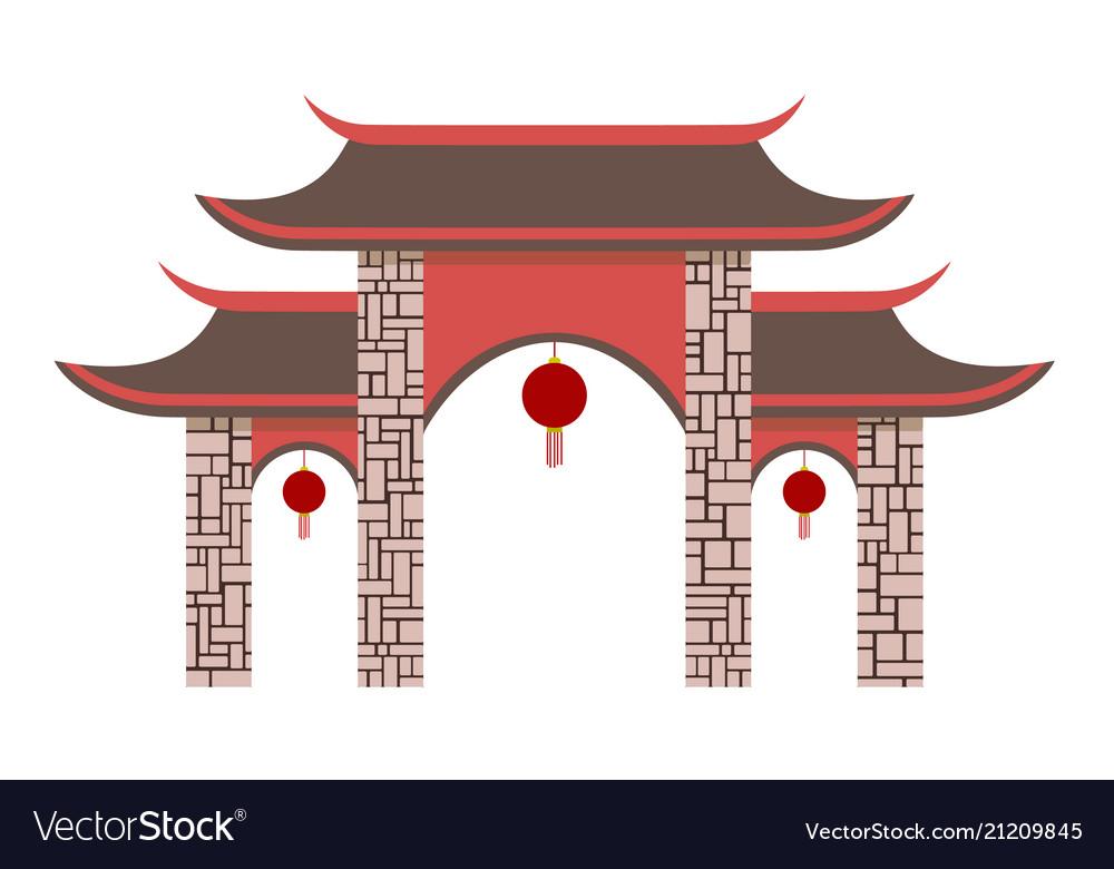 Simple chinese pavilion gate