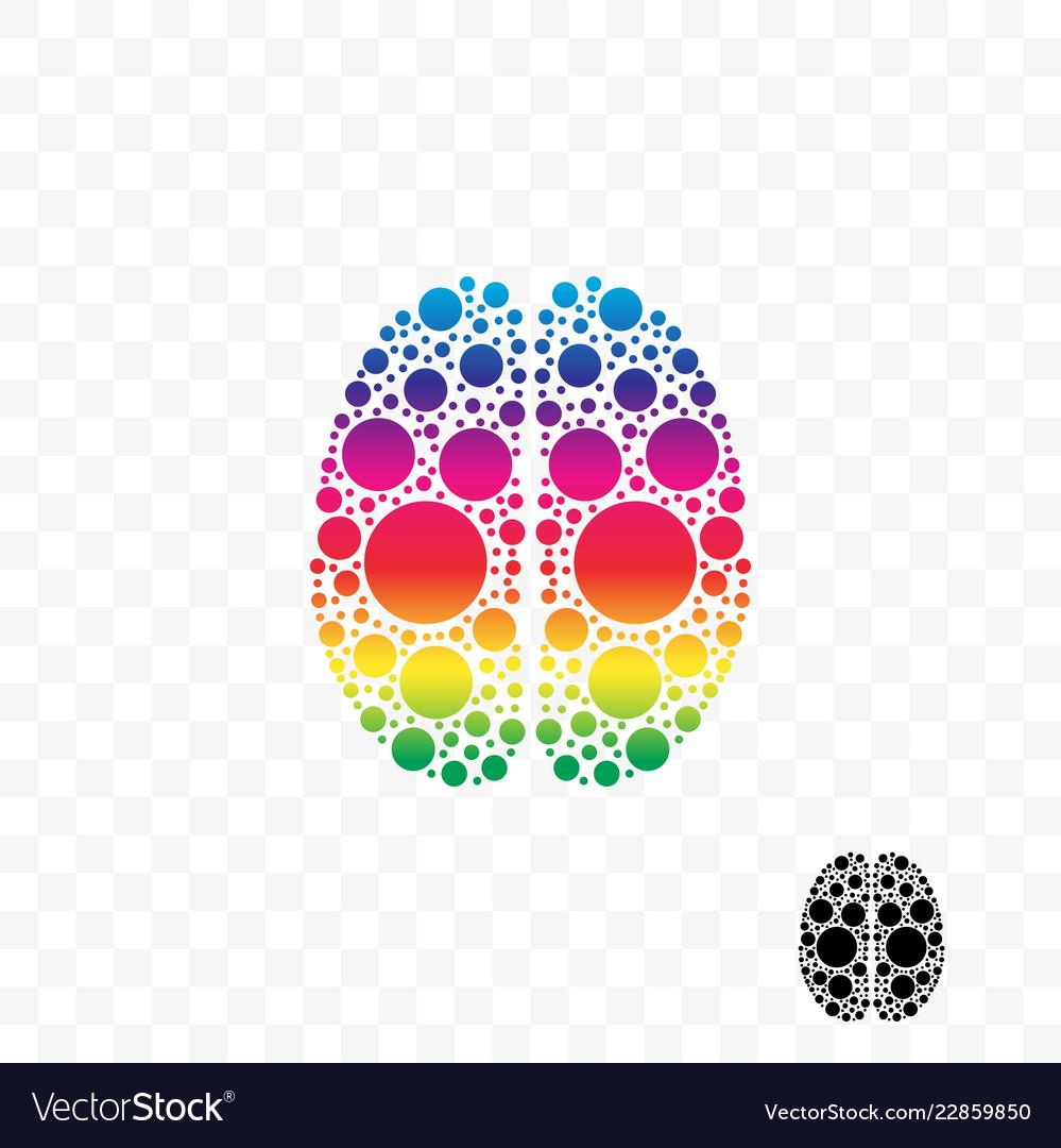 Brain smart logic mind idea logo
