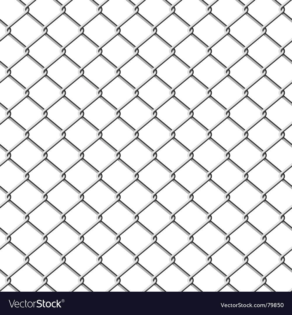 Chain link fence seamless royalty free vector image