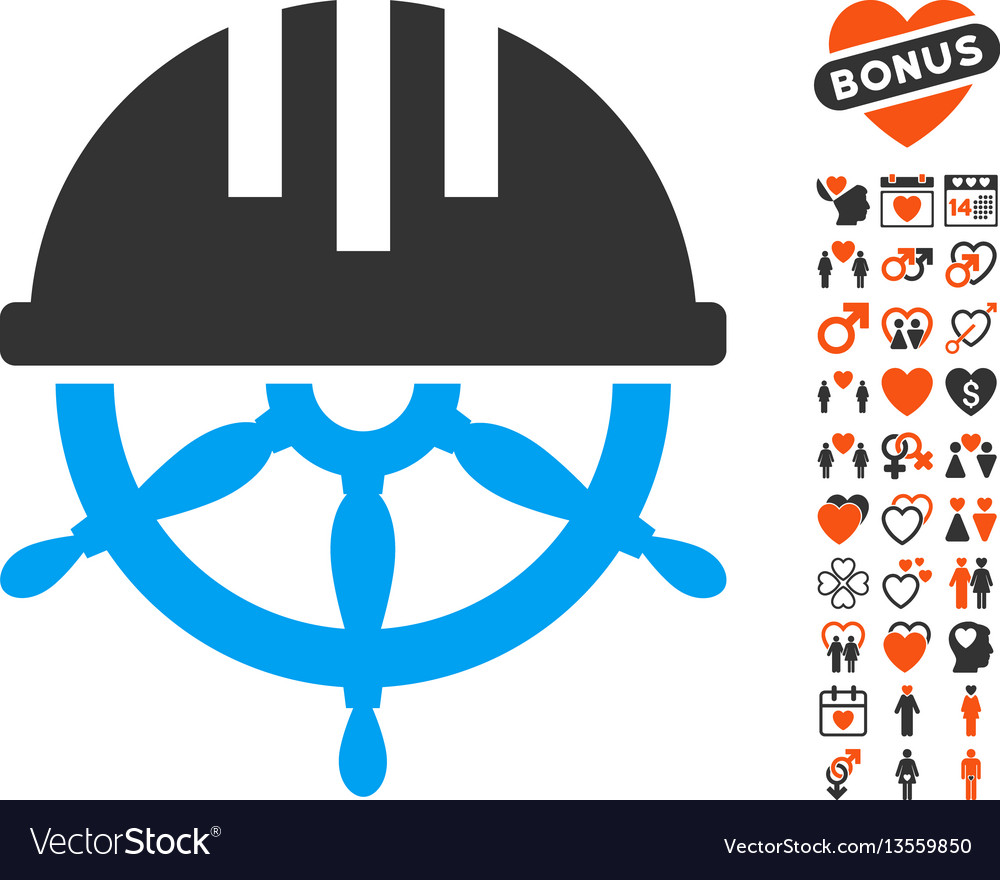 Covered steering wheel icon with dating bonus