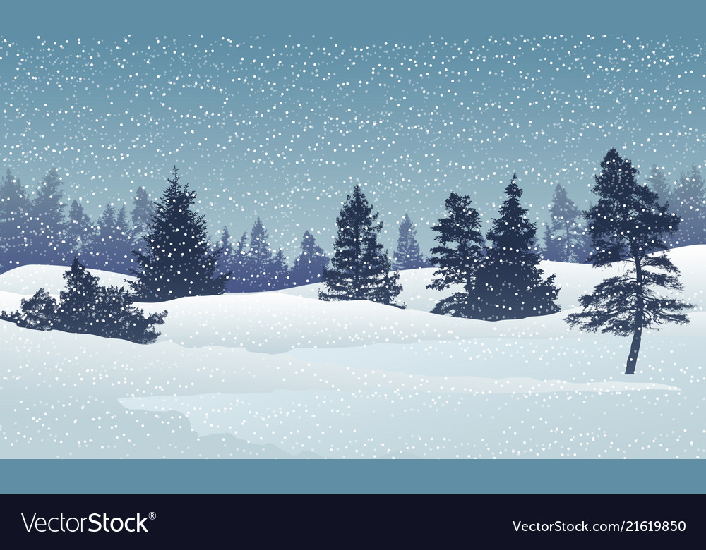 Holiday winter landscape background