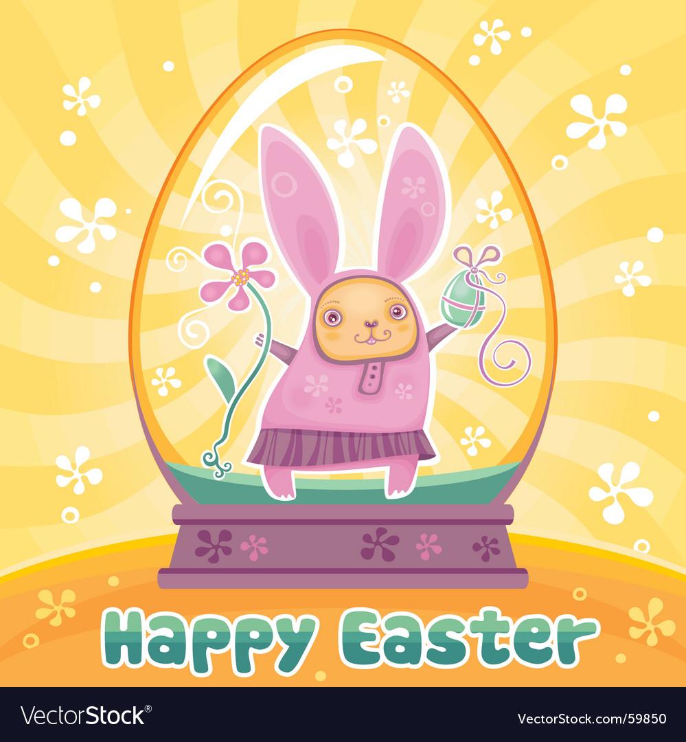 Rabbit in Easter egg