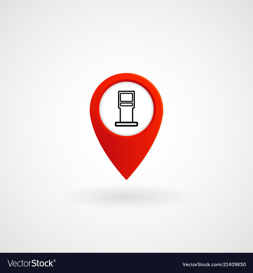 Red location icon for oil station eps file