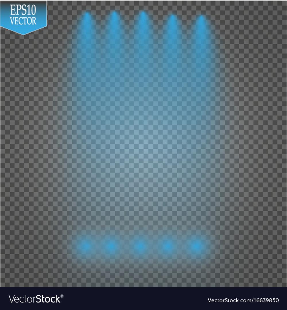 Bright special lighting Downlight Recessed Vectorstock Special Light Effects Realistic Bright Projectors Vector Image