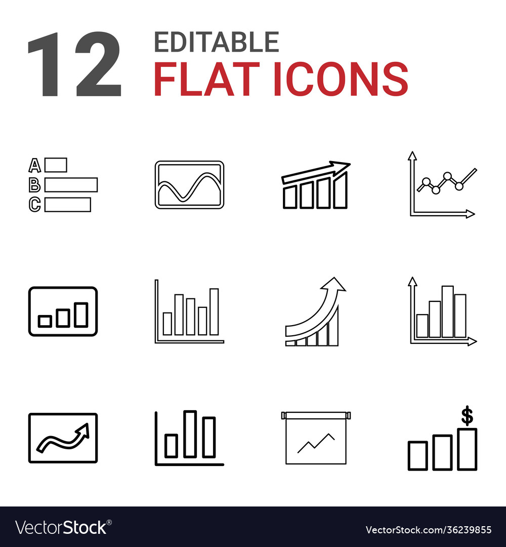 12 statistic icons