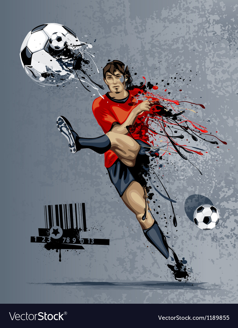 Abstract image of soccer player