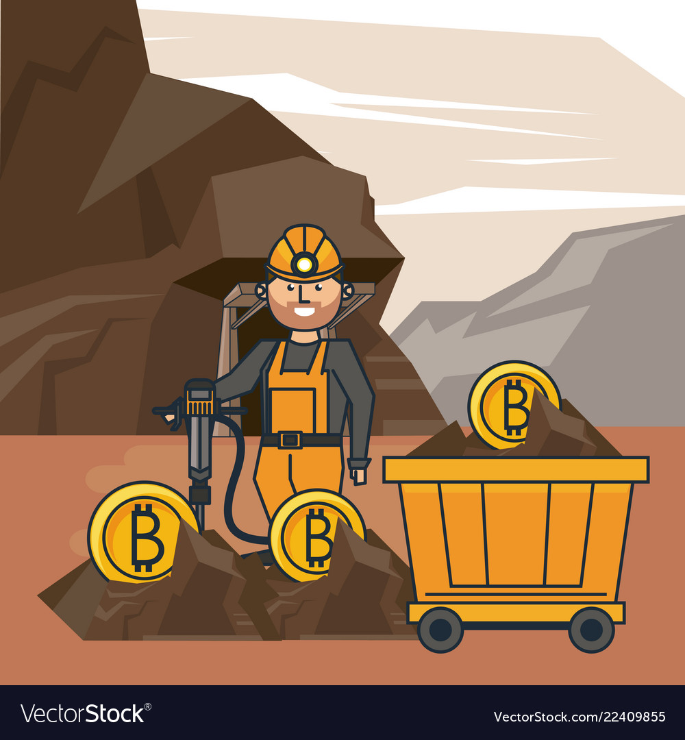 Bitcoin Mining Cartoon