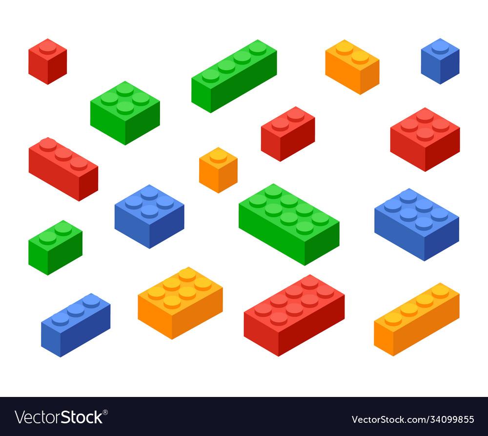 Block toy brick building icon isometric