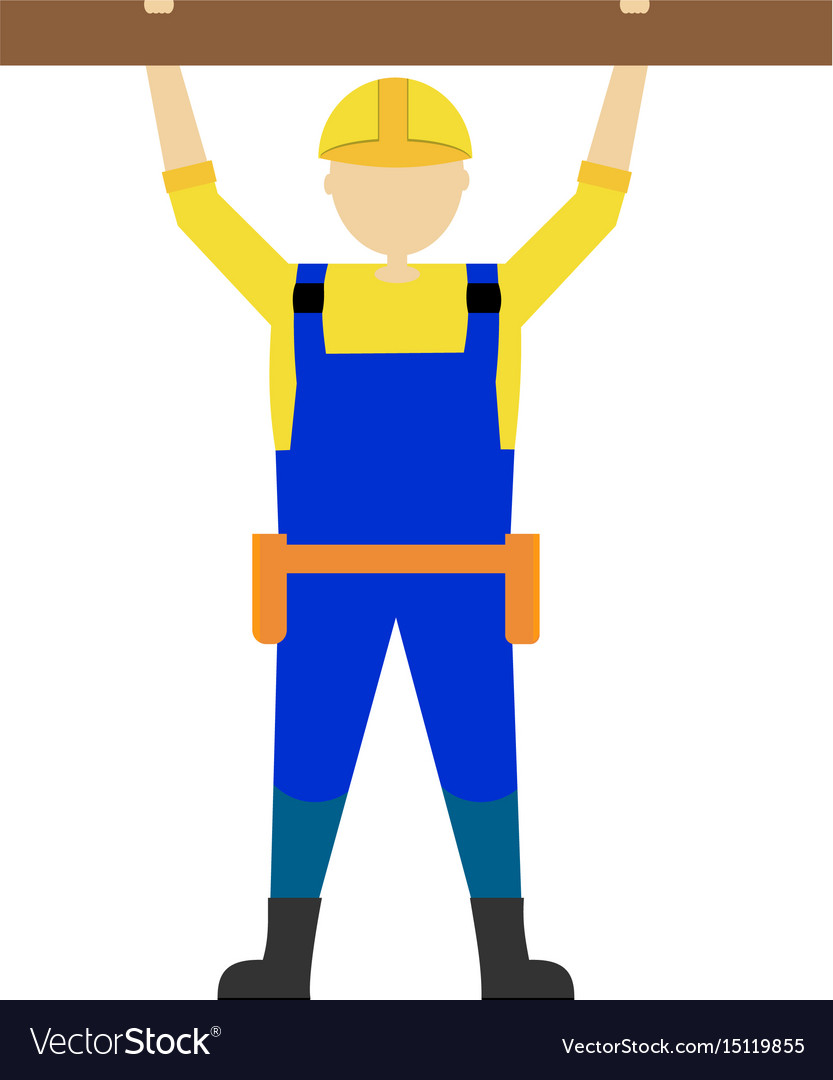 Builder man worker character professional